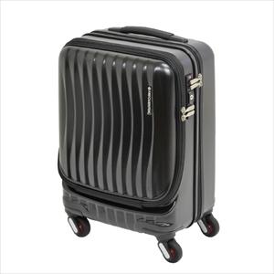 スーツケース(機内持ち込みサイズ・鍵付・ストッパー付・TSAロック・4輪キャリーケース・36L・ブラック)