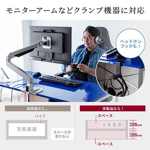 パソコンデスク(鏡面・ブラック・ワークデスク・W120×D60×H70cm)