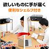 【ハロウィンセール】シェルフ付きデスク(パソコンデスク・棚付き)