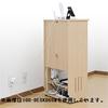 電話台(電源タップ&ルーター収納・ホワイト)