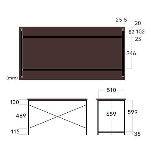 【期間限定セール】【高コスパ】シンプルワークデスク(幅120cm・ホワイト・パソコンデスク)
