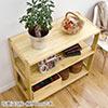 ウッドラック(幅90cm・奥行40cm・高さ80cm・3段・棚板可変・パイン材・天然木)