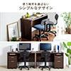 【ハロウィンセール】パソコンデスク(W120cm・書斎机・木製・シンプルデスク・在宅勤務・テレワーク・ブラウン)