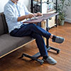 ノートパソコンデスク ノートPC台 ベッドサイドテーブル ソファーサイドテーブル 高さ58~88cm 角度調整 幅60cm×奥行40cm キャスター付き テレワーク 在宅勤務 木目調