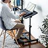 ノートパソコンデスク(ノートPC台・高さ調整・角度調整・テレワーク・在宅勤務・サイドテーブル・ベッド・ソファーサイド・ホワイト)