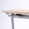 【オフィスアイテムセール】折りたたみテーブル・フォールディングデスク(メープル木目・W1800×D450)