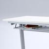 【オフィスアイテムセール】折りたたみテーブル・フォールディングデスク(ホワイト・W1800×D450)