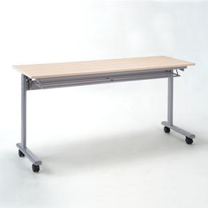 折りたたみテーブル・フォールディングデスク(メープル木目・W1500×D450)