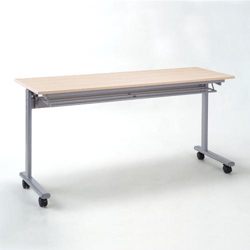 折りたたみテーブル フォールディングデスク メープル木目 W1500×D450mm 選挙 選挙事務所 投開票所
