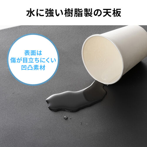 折りたたみテーブル(省スペース・W860mm・D860mm・樹脂天板・簡単組立・持ち運び・取っ手付き・グレー)