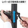 液晶モニターアーム(画面回転対応・水平3関節・クランプ固定)