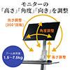 スタンディングデスク(モニター 高さ調整可・モニタアームスタンド・上下昇降デスク)