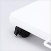 プリンタ台 ロータイプ 床置き キャスター付き 幅48cm×奥行き40cm ホワイト