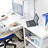 【オフィスアイテムセール】プリンタ台 プリンタラック キャスター付き 収納 棚付き 幅60cm×奥行き50cm×高さ70cm ホワイトグレー