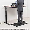 疲労軽減マット(腰痛対策・滑り止め機能・立ち仕事対策・耐水・耐油・耐菌性・文教・教壇・幅150cm・ブラック)