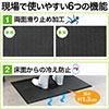 導電性マット(静電気帯電防止・疲労軽減・腰痛対策・滑り止め機能・立ち仕事対策・耐水・耐油・耐菌性・幅90cm・ブラック)