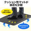 立ち仕事マット(腰痛対策・疲労軽減・滑り止め機能・耐水・文教・教壇・幅約92cm・ブラック)