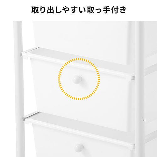 マルチワゴン(3段・キッチンワゴン・ツールワゴン・消毒液台・デスクキャビネット・樹脂トレー・キャスター付・ホワイト)