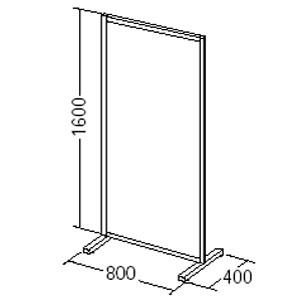 自立式 パーテーション 半透明 3枚セット(W800×H1600)