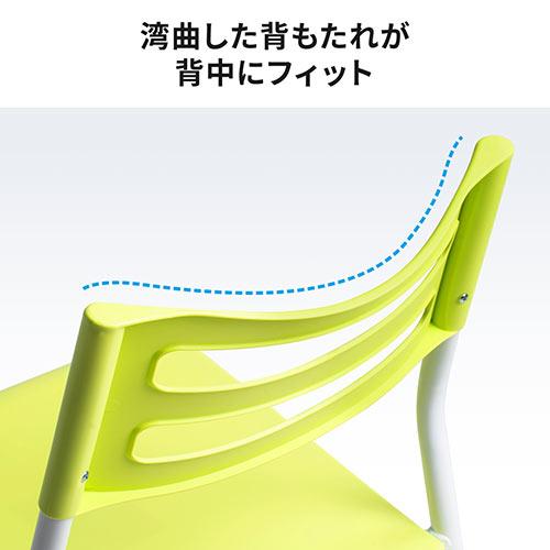 シンプルチェア(ホームチェア・4脚セット・ホワイト)