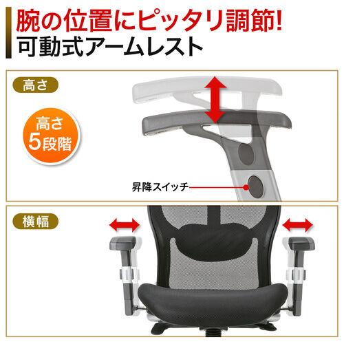 【腰痛対策】メッシュチェア(事務椅子)
