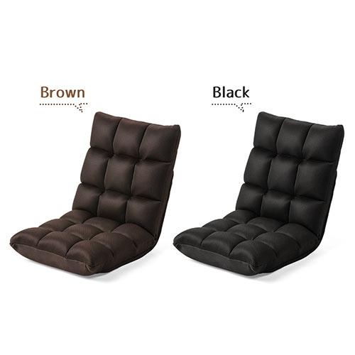 ふあふあフロアチェア(幅45cm・低反発ウレタン座椅子・メッシュ製・42段階調整・ブラウン)