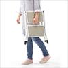 踏み台(折りたたみ式・ステップスツール・椅子・2段・滑り止め付・ベージュ)