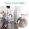 2WAYカウンターチェア キャスター アジャスター両対応 バーカウンター 腰痛対策 回転椅子 キッチン ブラック