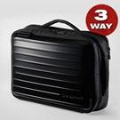 3WAYハードシェルバッグ(iPad・タブレット収納対応・ブラック)