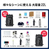 【Early Summerセール】FILAリュック(大容量22L・黒・メンズ・レディース・スクエアリュック・バックパック)