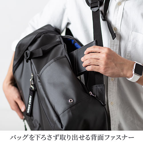 バックパック(スクエア型リュック・メンズ・ビジネスリュック・A4・旅行・PCリュック・ファーストダウン・22L)