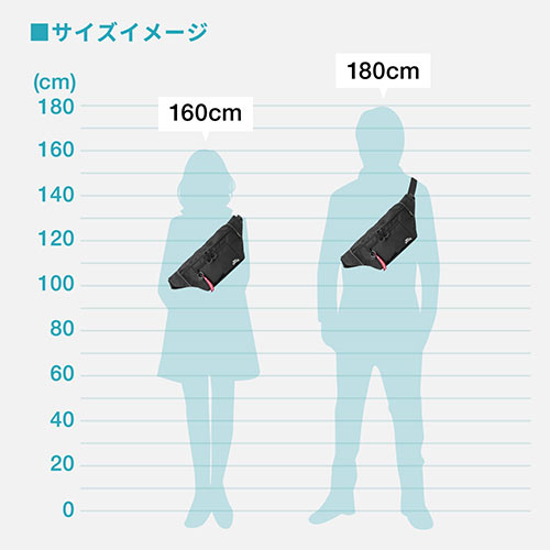 ウエストバッグ(メンズ・ボディバッグ・ワンショルダーバッグ・斜めがけバッグ・ワンショルダー・7ポケット・ロンズデール・ネイビー)