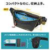 ウエストバッグ(メンズ・ボディバッグ・ワンショルダーバッグ・斜めがけバッグ・ワンショルダー・7ポケット・ロンズデール・レッド)