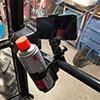 【50%OFFセール】クランプ式取り付けスマホホルダー(ドリンクホルダー・作業カートホルダー・ベビーカー・特殊車両・キャリーケース・角度調整・耐荷重800g)