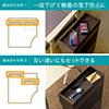 ケーブルボックス(木製・スマホ/タブレット/タップ/ルーター/DVD/本収納・ダークブラウン)