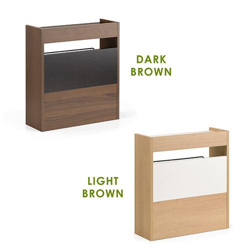 ケーブルボックス(タップボックス・ルーター収納ボックス・木製・高さ45cm・ロータイプ・ダークブラウン)