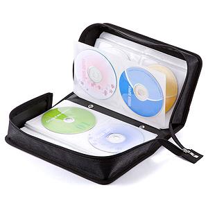 CD・DVDケース(160枚収納・ブラック)
