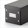 CD収納ボックス(組立式・ブラック・3個セット・1箱30枚まで収納)