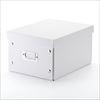 組立DVD収納ボックス(1箱あたり17枚まで収納・ホワイト・5個セット)