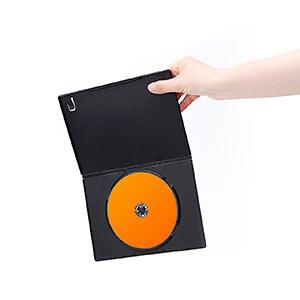 【500枚】DVDケース スリムタイプ(1枚収納・トールケース・7mm・ブラック)
