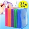 スリムCD・DVDケース(1枚収納・PP素材・ミックス・25枚入)