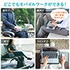 ひざ上テーブル(膝上テーブル・持ち運び・テレワーク・在宅勤務・ノートパソコン・タブレット・左右スライド式マウスパッド内蔵・13.3インチ・15.6インチ・ラップトップテーブル)