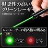 【オフィスアイテムセール】緑レーザーポインター(金メッキ・クリップ付)