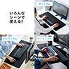 大型マウスパッド(幅78cm・奥行35cm・黒色・テレワーク・薄型・持ち運び・デスクマット・ゲーミング)