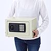 小型電子金庫(マイナンバー・セキュリティ―対策・ホテル・家庭用・テンキー・鍵式・壁掛け対応・9.9リットル)