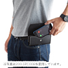 iPhone 11/11 Pro/11 Pro Max 対応2台収納ベルトケース(本革・LLサイズ・ブラック)