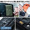 iPhoneポーチ(カラビナ付・アルファデザイン・MA-1・デジカメ収納・カーキ)