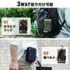 iPhoneポーチ(カラビナ付・スマホ収納・ネイビー・アルファ)