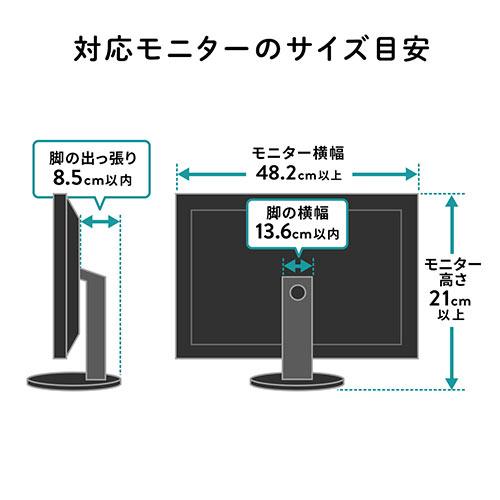 ディスプレイ裏収納ラック(モニター裏収納ラック・棚・配線・ルーター・ちょい置き・幅48.2cm・2段・22インチ以上のモニター向け)