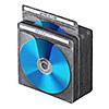 ブルーレイディスク対応不織布ケース(300枚入・両面収納・ブラック)